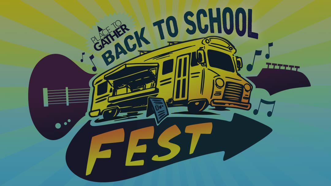 Logo for Place to Gather Back to School Fest