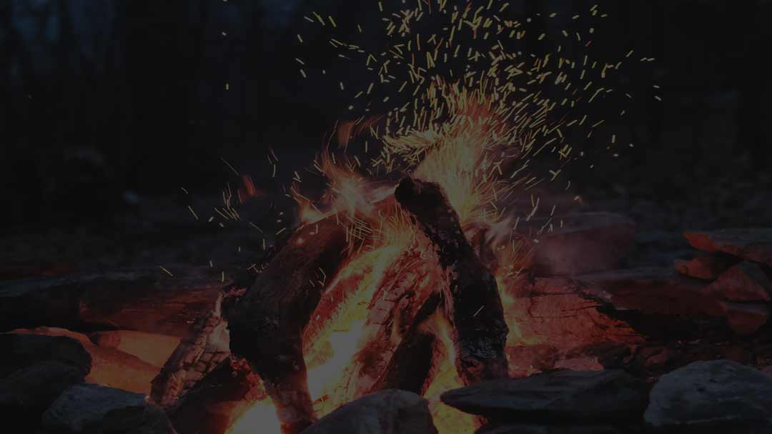 Image of a campfire for LifeSpring Men's Retreat