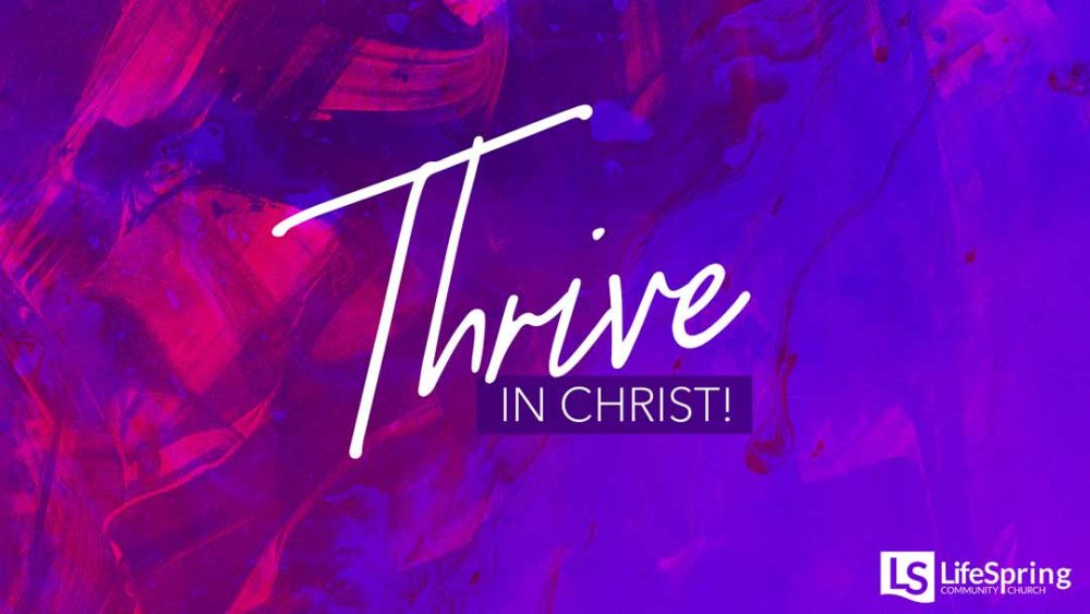 Thrive in Christ!